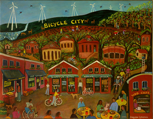 Bicycle City - Painting